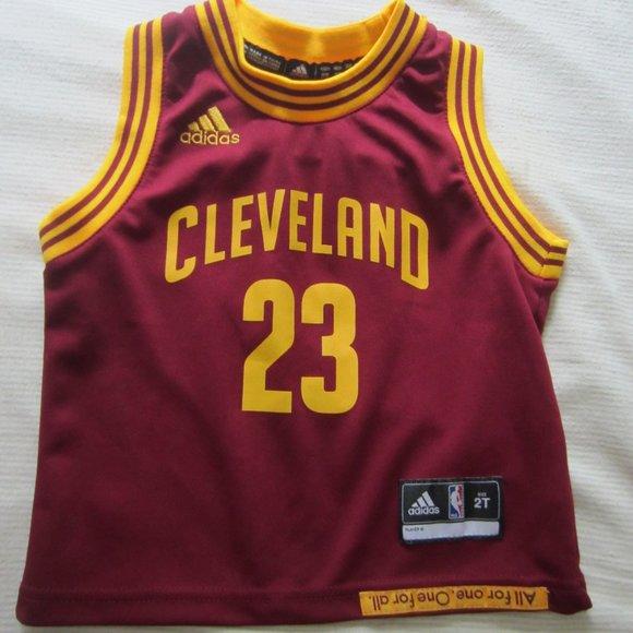 adidas Shirts & Tops   2t Adidas Cleveland Cavs Jersey 23 Lebron ...